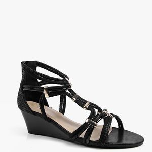 Aldo Black & Gold Gladiator Sandals